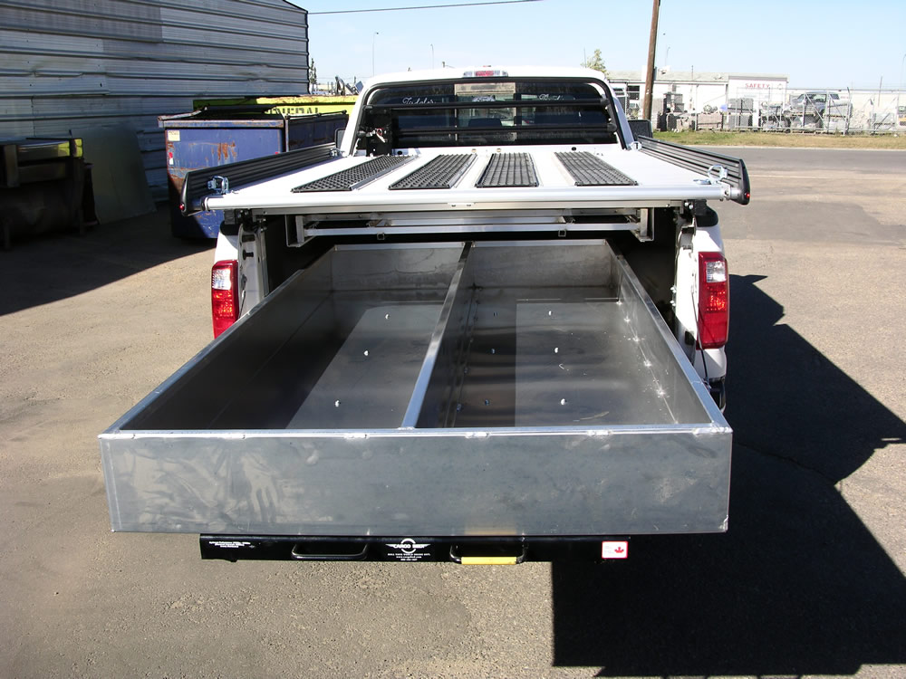 Truck Bed Storage Drawers >> Truck Bed Slide Out Drawers for Survey Trucks | Cargo Bed