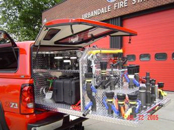 Truck Bed Sizes >> Emergency Vehicle Accessories and Slide Out Drawers | Cargo Bed